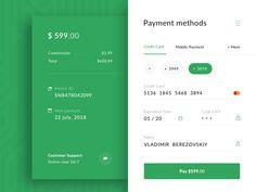 Payment Widget designed by Sergey Belenko. Connect with them on Dribbble; Dashboard Ui, Dashboard Design, Ui Ux Design, Ecommerce Web Design, User Interface Design, Web And App Design, Design Websites, Form Design Web, Mobile Web Design
