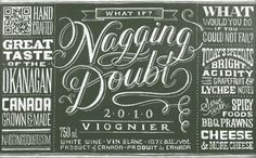 Nagging Doubt wine label