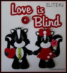 ELITE4U KAM Premade Skunk Valentine Paper Piecing 4 Scrapbook Mat Set Page Album | eBay