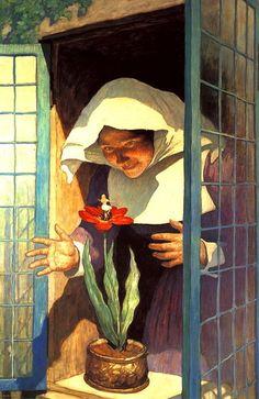 How to use reflective light?: N. C. Wyeth, Thumbelisa