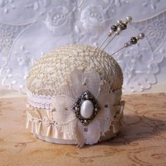 Yvette pincushion from creators studio on Etsy. by KastleKitty