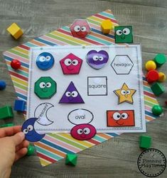 Back to School Themes - Planning Playtime Preschool Shapes Activities - Back to School Theme Preschool Learning Activities, Preschool Printables, Toddler Activities, Preschool Activities, Preschool Alphabet, Alphabet Activities, Montessori Preschool, Preschool Centers, Preschool Shapes