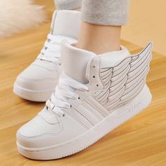 Material:pu Sole material:rubber Color:white.black.silver  Size here:  eu36=230mm. eu37=235mm. eu38=240mm. eu39=245mm. eu40=250mm. please check your foot length,choose the size what you take!  Tips: *Please double check above size and consider your measurements before ordering,thank you