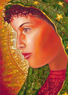 """Lupita Dolorosa"" by Juan Solos #LatinoArt"