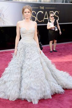 Oscar 2013 - Amy Adams - Light blue dress with tulle - Oscar de la Renta.