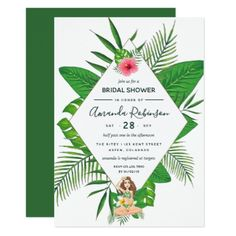 digital tropical invitation save the date by thelovelyinkco ashley