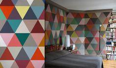 Un papier peint géométrique