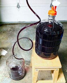 When to move your homemade wine to a secondary fermenter.