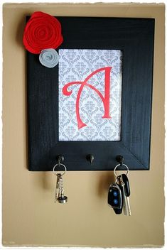 You can make wall art and put hangers for your keys - 20 DIY Creative Key Holders