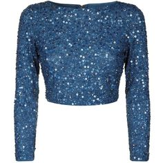 Designer Clothes, Shoes & Bags for Women Sari Design, Sari Blouse Designs, Alice Olivia, Embellished Crop Top, Sequin Crop Top, Cropped Tops, Full Sleeve Crop Top, Long Sleeve, Indian Fashion Dresses