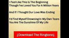 Stevie Wonder - You Are the Sunshine Of My Life Lyrics