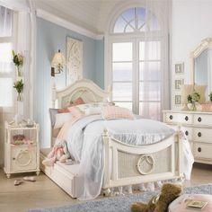 Pearl White Finish Twin Size Post Bedroom Set Item #: 01000T Set ...