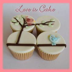 Valentine's Love Birds cupcakes