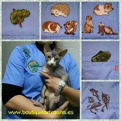 Apliques para casaca veterinaria