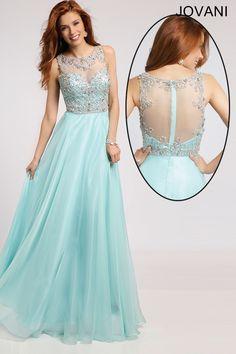 Sheer Neckline Chiffon Dress 80862