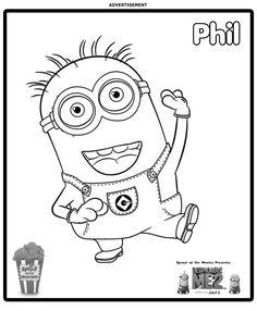 Dibujo para colorear de los Minions (nº 20)