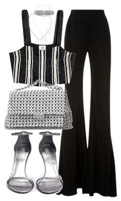 """Untitled #21202"" by florencia95 ❤ liked on Polyvore featuring Brandon Maxwell, STELLA McCARTNEY, Stuart Weitzman and Yves Saint Laurent"