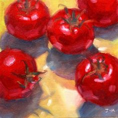 "Daily Paintworks - ""Tomatoes"" - Original Fine Art for Sale - © Jiyoung Kim"