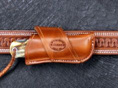 D.M. Bullard Leather Mfg. Crossdraw Knife Sheath