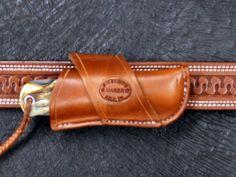 D.M. Bullard Leather Mfg. Crossdraw Knife Sheath