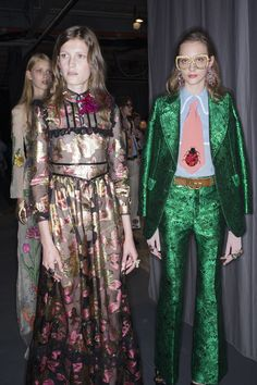 Gucci Spring 2016 Ready-to-Wear #backstage | @andwhatelse