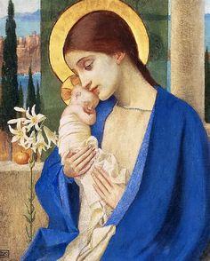 Marianne Stokes (Austrian-born English artist, 1855–1927) Madonna and Child