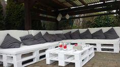 Lounge aus Europaletten