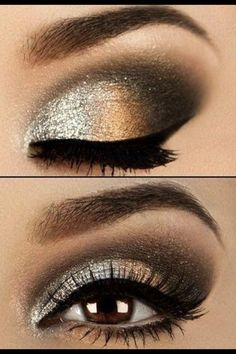 A dramatic smokey eye brings out the best in your brown eyes, visit Beauty.com.