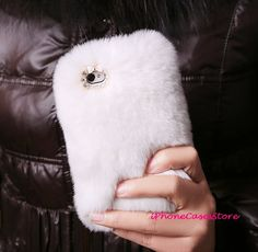 IPhone 4s Case Luxury Fur IPhone 4 Case White Fur Warm Unique Furry IPhone Cover Rabbit SkiniPhone4 on Luulla