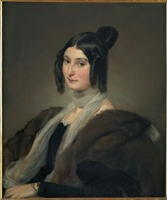 "Countess Clara Maffei | Born 3/13/1814; Died 7/13/1886 of Meningitis | Known for the salon she known as the ""Salotto Maffei"" in Milan, which started in 1834 & organized by Tommaso Grossi and Massimo d'Azeglio, it attracted several well-known literati, artists, scholars, composers and pro-Risorgimento figures to meet to discuss art and literature. These included Alessandro Manzoni, Francesco Hayez, Giuseppe Verdi and Giovanni Prati."