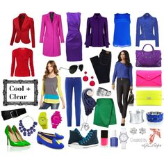 A fashion look from November 2013 featuring Oscar de la Renta dresses, Kensie tops and L. Browse and shop related looks. Bright Winter Outfits, Bright Spring, Cool Winter Color Palette, Deep Winter Colors, Color Type, Colour Board, Dyt Type 4 Clothes, Winter Typ, Clear Winter