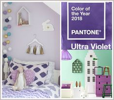 Kids Interiors is your online inspiration and shopping guide for baby nurseries, childrens rooms, bedrooms, playrooms, decor Purple Nursery Decor, Modern Nursery Decor, Modern Nurseries, Girl Nursery, Girl Room, Color Of The Year, Room Themes, Pantone Color, Interior Inspiration