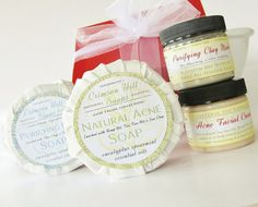 Acne Skin Care Set  Acne Soap Purifying Clay Soap by crimsonhill