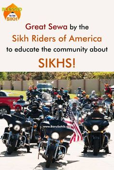 ‪#‎BlessedToBeSikh‬ Great Sewa by the Sikh Riders of America to educate the community about SIKHS! After the Aug. 5, 2012, mass shooting at the Sikh Temple of Wisconsin in Oak Creek by a gunman with reported ties to white supremacist organizations, a group of Sikh-American friends wanted to do something to help educate others about Sikhs, Sikhism, and how Sikh Americans contribute to the community. Read More -http://barusahib.org/…/great-sewa-by-the-sikh-riders-of-am…/ Share & Spread..
