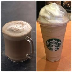 Eggnog Latte and Frappuccino from Starbucks! Hurry up and enjoy these holiday specials before they are gone! #irvine #hotel #starbucks #holidays