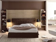 Download the catalogue and request prices of contemporary style spruce bedroom set Nuovo mondo n09, Nuovo Mondo collection to manufacturer Scandola Mobili