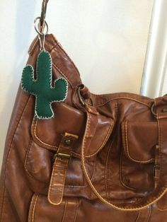 Cactus Plush Keychain by OnBehalfOfTheMoon on Etsy
