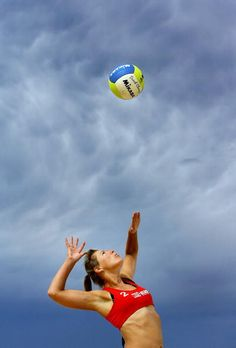 The best  thing in volleyball..hitting :D