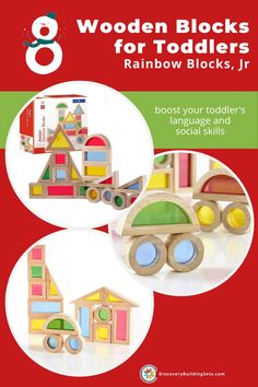Discovery Building Sets offers the award-winning Jr. Rainbow Blocks. Wooden blocks for toddlers are a fun way to develop your toddler's language and social skills. Encouraging block play using these scaled-down and sturdy, wooden building blocks for toddlers supports their social-emotional development and language skills. Grab some wooden stacking blocks and let your toddlers boost their social skills. Wooden Building Blocks, Wooden Blocks, Learning Colors, Kids Learning, Blocks For Toddlers, Rainbow Blocks, Block Play, Social Emotional Development, Stacking Blocks