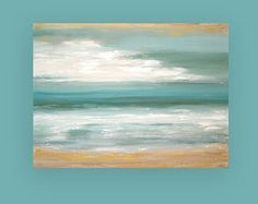 Abstract SeaScape Blue and Gray Original Painting Titled: