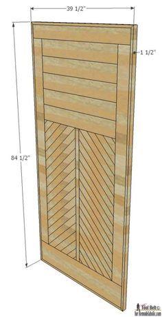 How To Build A Wood Chevron Barn Door Door Design Wood Barn Door Diy Barn Door