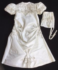 2ab469776e02 Beautiful christening gown crafted from a wedding dress