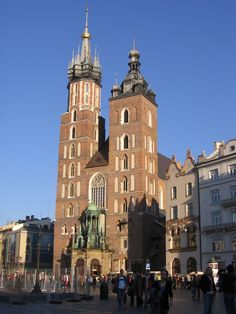 Krakau, Marienkirche bei der Stadtführung im Herbst #krakau #krakow #stadtführung #polen #poland #travel #marienkirche