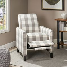 Gracie Oaks Liverpool Manual Recliner & Reviews | Wayfair Contemporary Fabric, Contemporary Design, Teal Chair, Large Sofa, Chair Backs, A Whole New World, Fashion Room, Seasonal Decor, Recliner