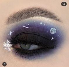 "History of eye makeup ""Eye care"", in other words, ""eye make-up"" has always been a Makeup Eye Looks, Eye Makeup Art, Colorful Eye Makeup, Crazy Makeup, Cute Makeup, Pretty Makeup, Makeup Inspo, Eyeshadow Makeup, Makeup Inspiration"
