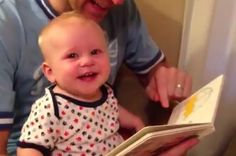 This Video Of A Baby Discovering Books For The First Time | so stinking adorable :)