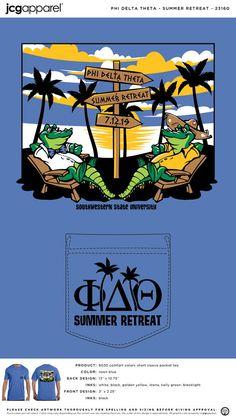 Phi Delta Theta Summer Retreat Shirt | Fraternity Summer Retreat | Greek Summer Retreat #phideltatheta #phidelt #summer #retreat #alligators