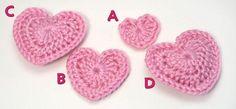 love hearts crochet pattern by planetjune  http://www.planetjune.com/blog/free-crochet-patterns/love-hearts/