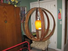 Rustic Orb Hanging Diy Chandelier Sphere Globe Made