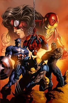 Image detail for -The Best Marvel Team Up Illustrations | Abduzeedo Design Inspiration ...